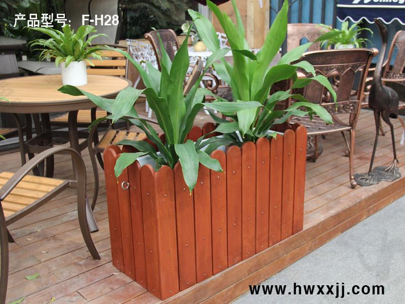 餐厅花槽木质花箱