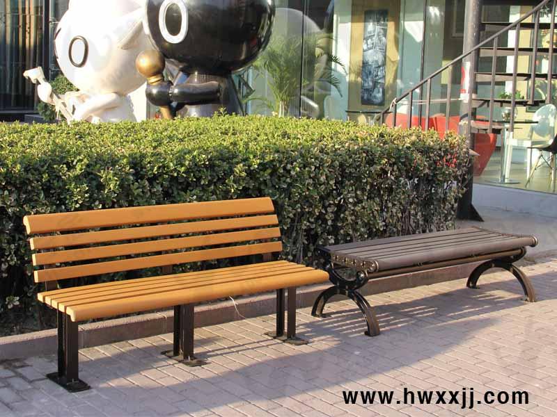 无靠背环保木铸铝椅G-SL07