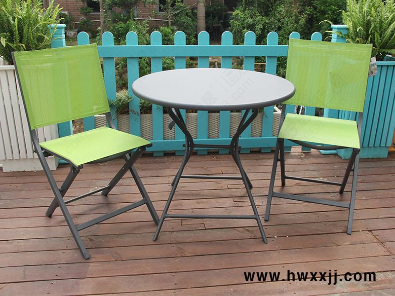 铝板圆折叠桌